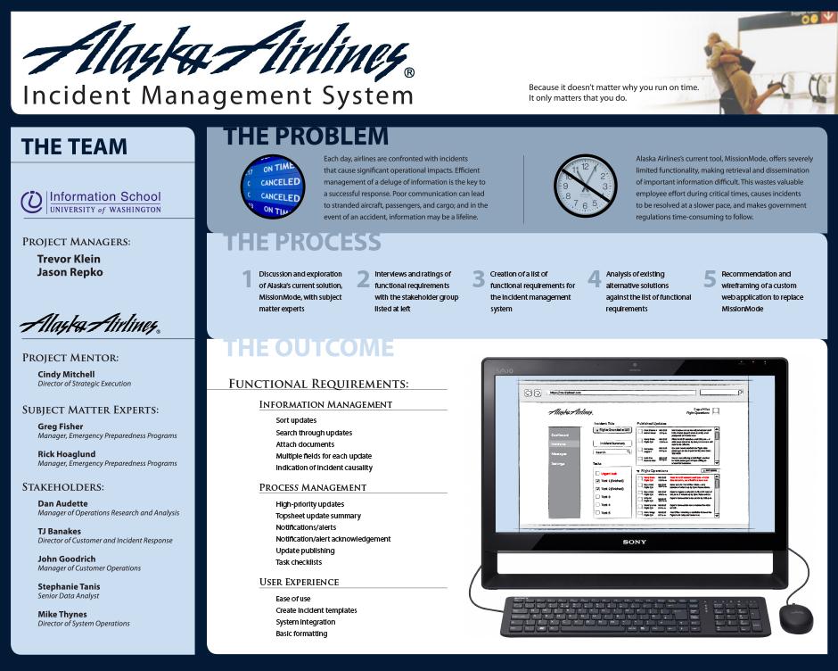 Alaska Airlines Incident Management System | Information