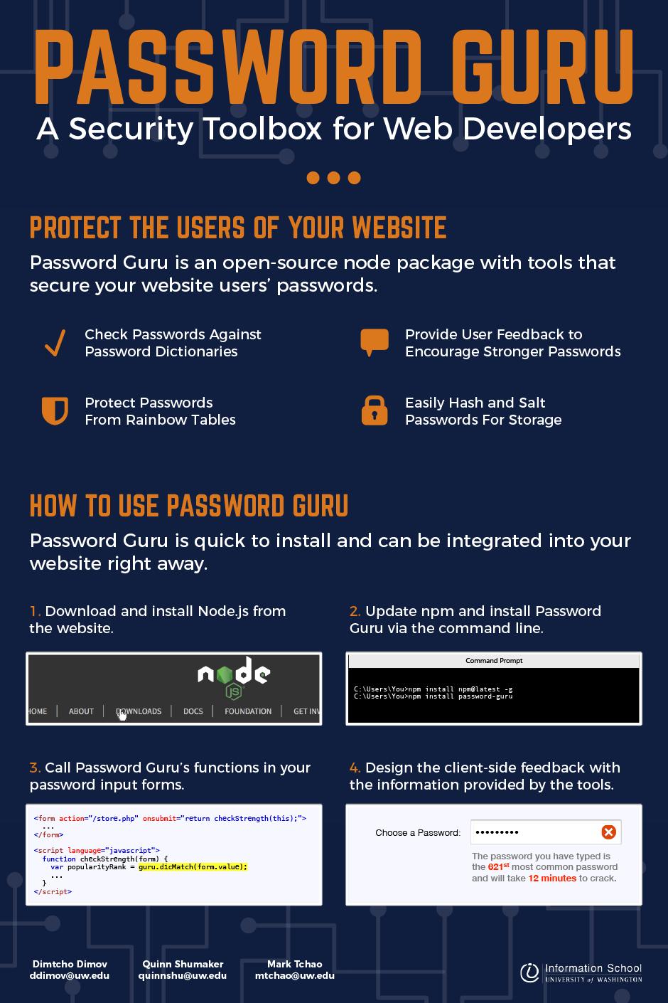 Password Guru | Information School | University of Washington