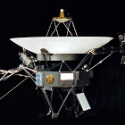 The Golden Record is mounted on the Voyager I spacecraft.