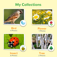 Screen shot from the NatureCollections app