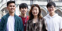 Capstone team (from left), Muhammad Hariz, Davis Huynh, Estelle Jiang and Liyuang Fu
