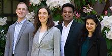 MSIM students Nathan Cunningham, Allison Chapman, Sahil Aggarwal and Shreya Sabharwal
