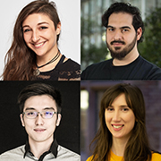 Photos of Yim Register, Abdullah Ali, Orson Xu and Rachel Franz