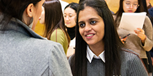 Student at the iSchool Career Fair