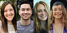 Students (from left) Hayley Younghusband, Tyler Van Brocklin, Autumn Derr and Lauren Smith