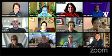 Faces of 12 Capstone participants in Zoom