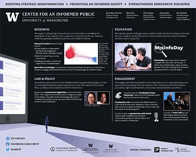Center for an Informed Public poster