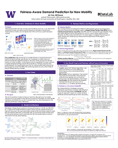 Poster: Fairness-Aware Demand Prediction for New Mobility