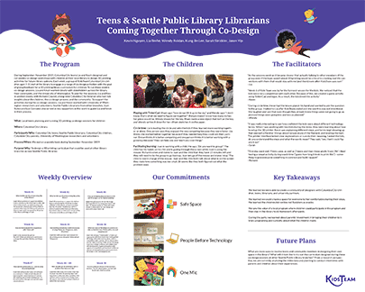 Poster: Teens and Seattle Public Library Coming Together Through Co-Design