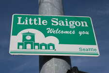 Photo of a neighborhood welcome sign in Seattle's Little Saigon by Sounder Bruce via Flickr