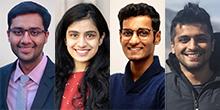 Faces of Rohan Khurana, Nandini Mazumdar, Varun Kandukuri and Aniruddh Nathani