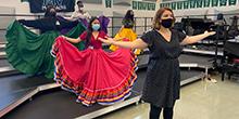 Andrea Alaniz teaches Mexican folk dance.