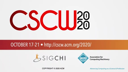 CSCW logo in a still image from the video presentation