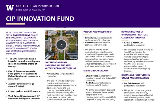 CIP Innovation Fund poster