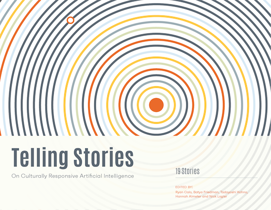 """Book cover: """"Telling Stories"""""""