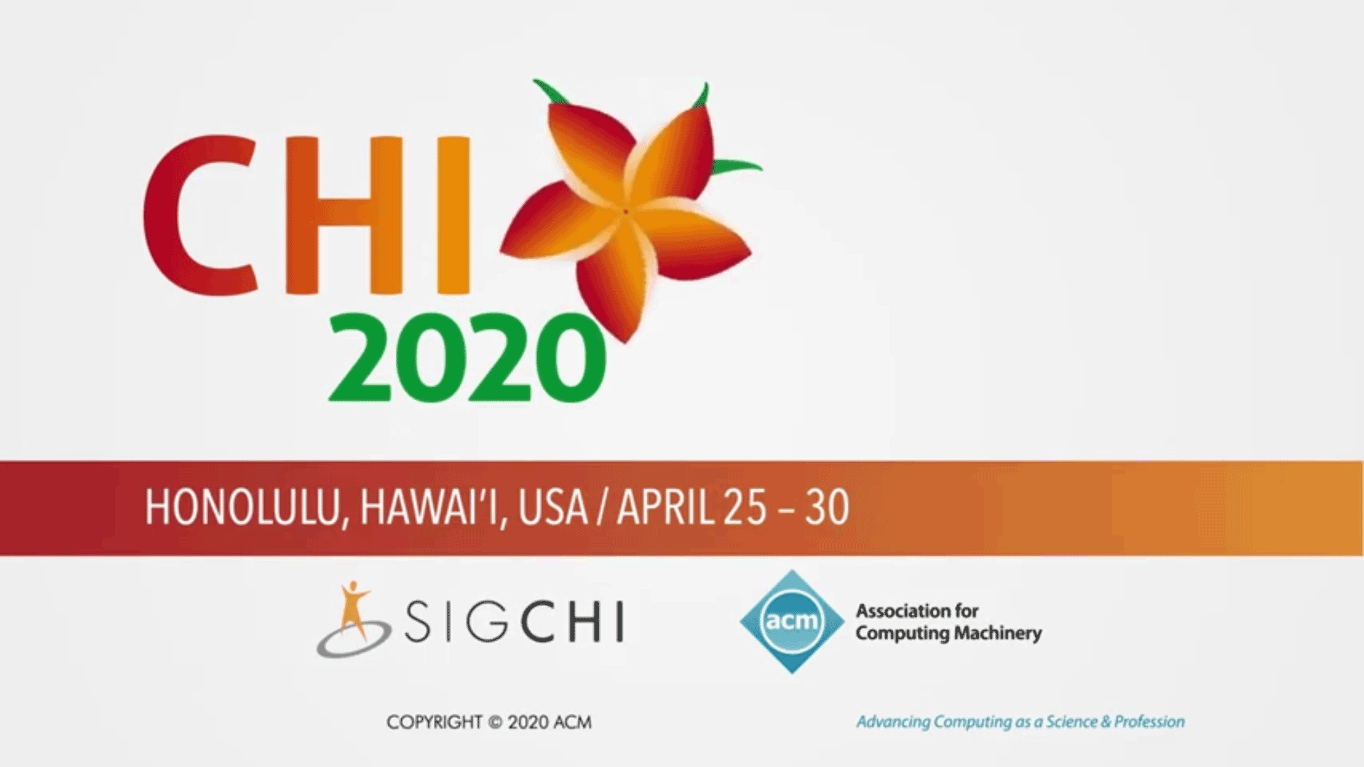 Screen shot from the presentation at CHI 2020.