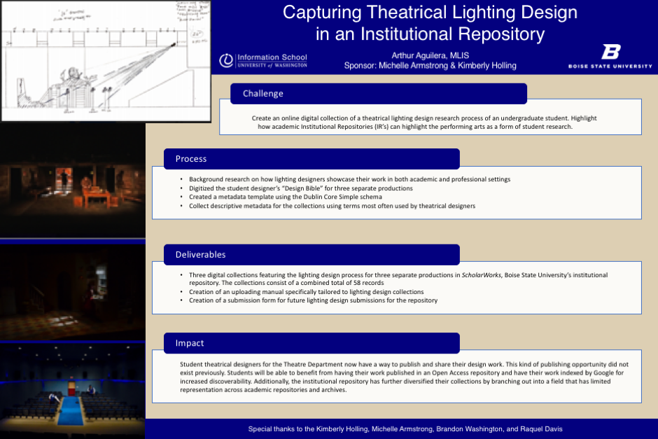 Capturing Theatrical Lighting Design In An Insutional