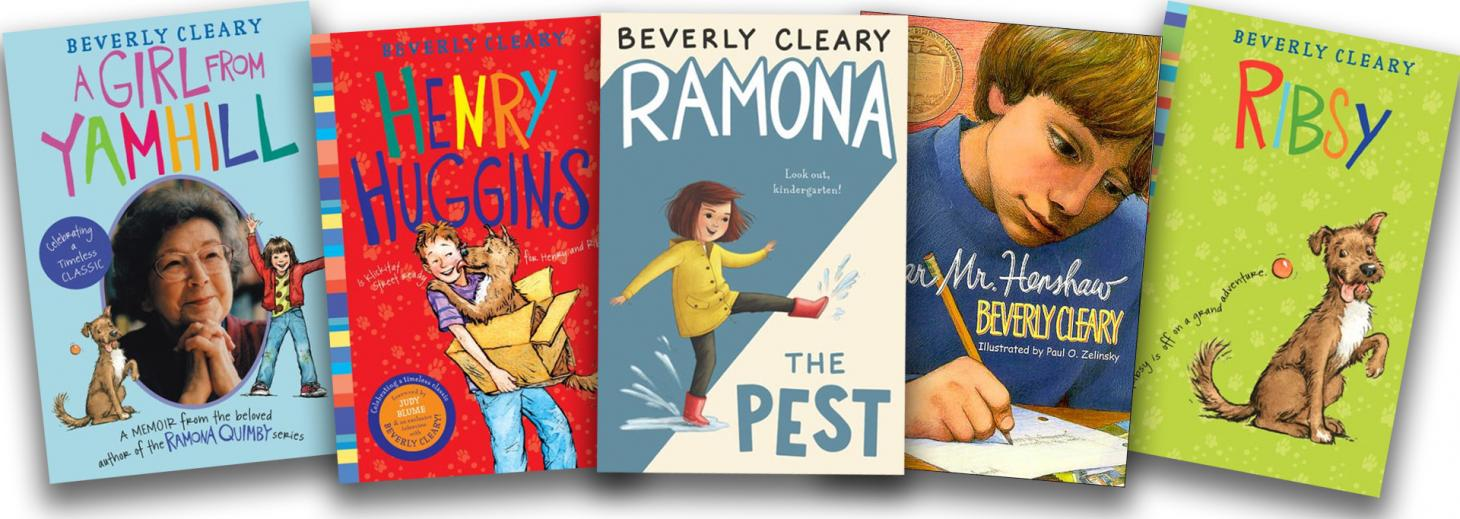 An array of 5 Beverly Cleary book covers