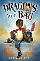 "Book cover: ""Dragons in a Bag"" by Zetta Elliott"