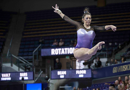 Malory Rose competes at the Pac-12 Championships.
