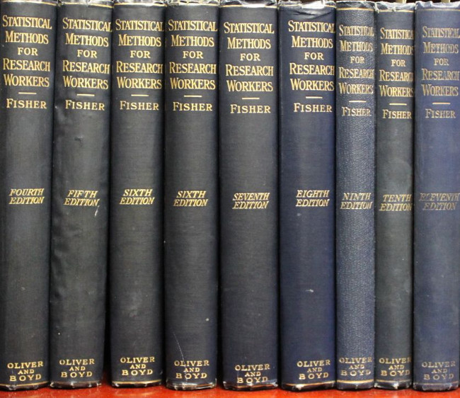 "Sir Ronald Fisher's ""Statistical Methods"" volumes."