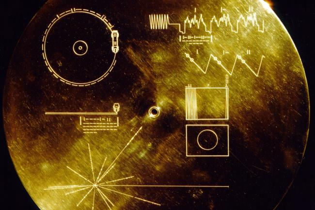 Cover of the Voyager I 'Golden Record'