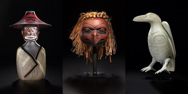 Pieces from Preston Singletary's exhibit