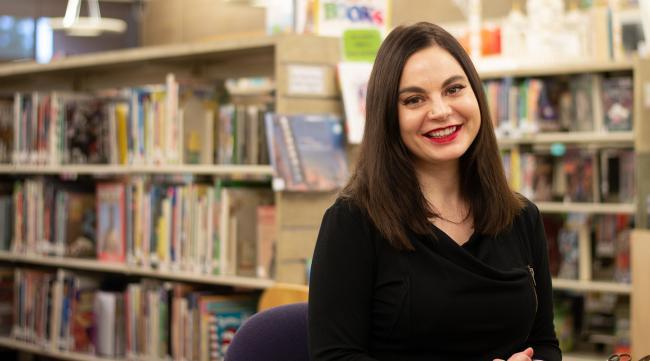 Mandi Harris at the Coeur d'Alene Public Library